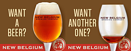 new belgium beer advertisement