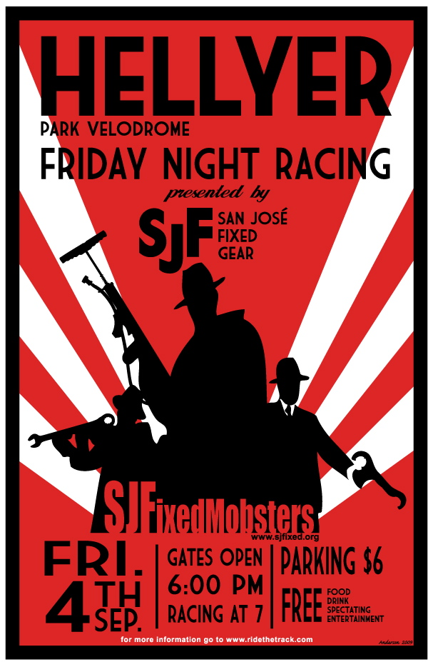 fixie mobsters hellyer racing poster