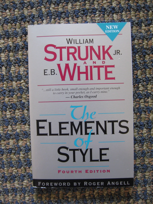 strunk white elements of style