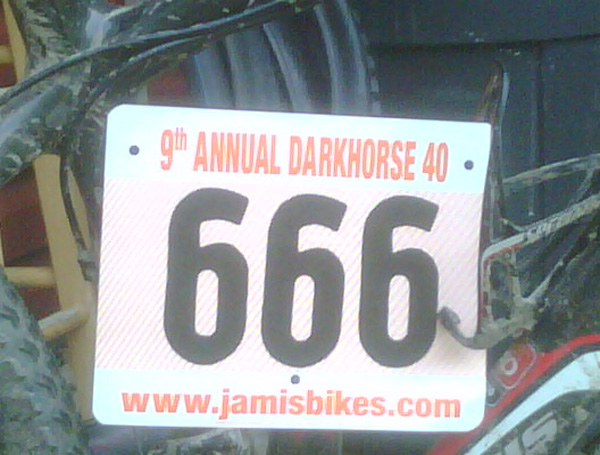darkhorse 40 number plate