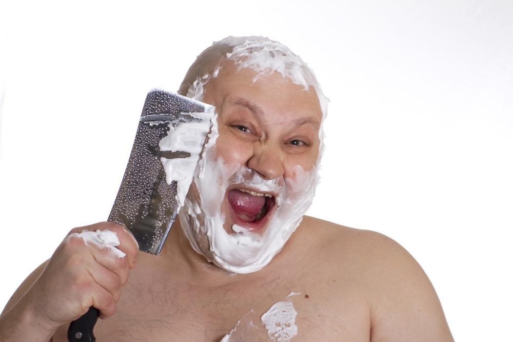 Shaving men