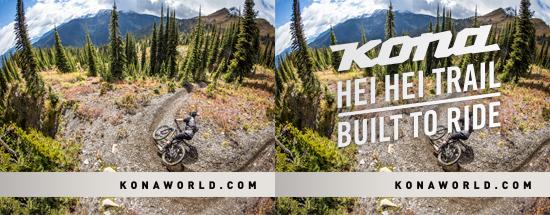 Kona bikes advertisement